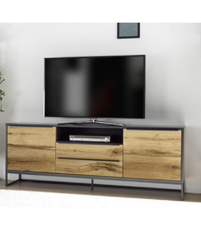 Stolik pod TV ASMARA 184 cm w optyce dębu