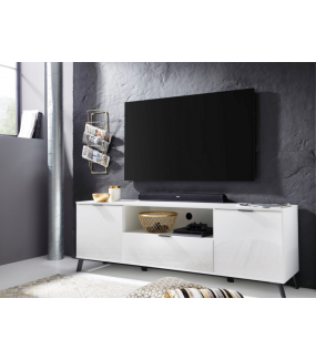 Stolik pod TV CASABLANCA 180 cm biały