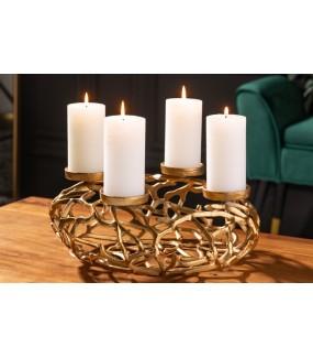 Przepiękny świecznik Delicado w stylu industrialnym do salonu.