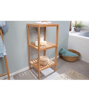Praktyczny regał FLORIDA 80 Ccm drewno bambus do wnętrza przedpokoju, łazienki jak również spa w stylu eko oraz boho.