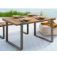 Stół ogrodowy TORTUGA 123 cm idealnie sprawdzi się na tarasie  lub balkonie.