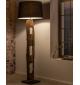 Lampa podłogowa BARRACUDA 177 cm idealna do salonu w stylu eko. Sprawdzi się w surowym industrialnym pokoju.