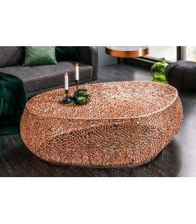 Stolik kawowy LEAF 122 cm miedziany