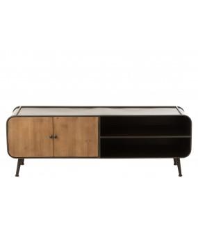Stolik pod TV idealny do wnętrz zaaranżowanych w stylu industrialnym.