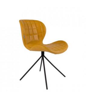 Krzesło OMG skórzane żółte