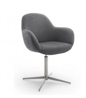 Krzesło MELROSE 1E z obrotowym siedziskiem antracytowe