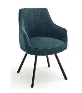 Krzesło SASSELLO  z obrotowym siedziskiem turkusowe