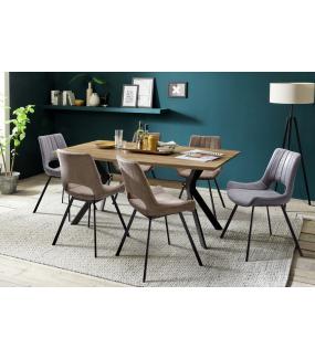 Krzesło tapicerowane OLYMPIA szare idealnie sprawdzi się w klasycznym salonie lub jadalni w nowoczesnej aranżacji.
