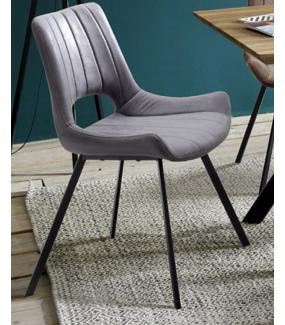 Krzesło tapicerowane OLYMPIA szare
