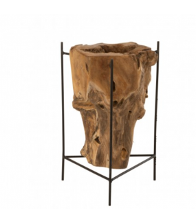 Stolik pomocniczy RAIZ DESIGUAL L 30 cm Teak naturalny