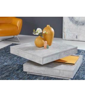 Stolik Kawowy UNIVERSAL w optyce betonu Z Obrotowym Blatem