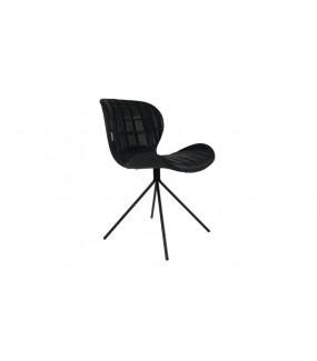 Krzesło OMG Skórzane czarne