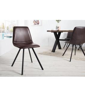 Krzesło Amsterdam Retro brązowe