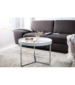 Stolik kawowy Modular 60 cm biało srebrny
