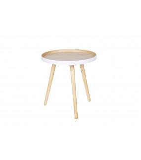 Stolik kawowy Sasha drewniany 40 cm x 40 cm biały