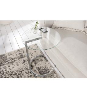 Stolik Effect 50-70 cm srebrny